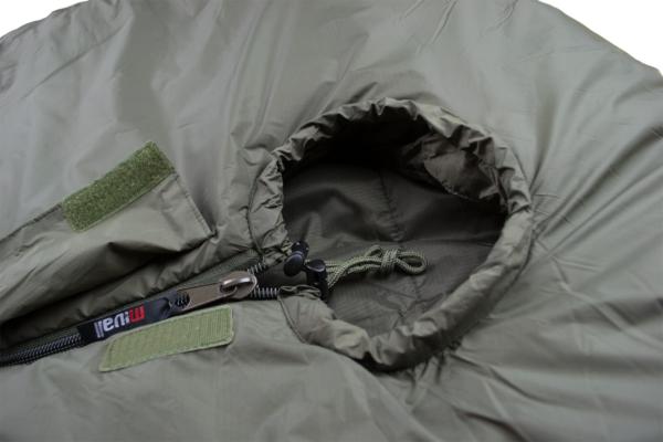 Mivall Habitat Militärschlafsack Detail Kopf