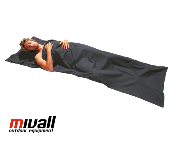 Mivall Baumwollinlett Decke grau
