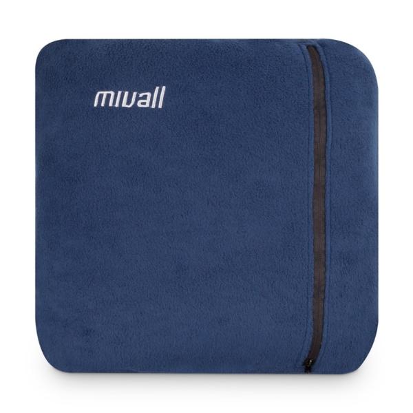 Mivall Fleecedecke und Kissen - 2 in 1