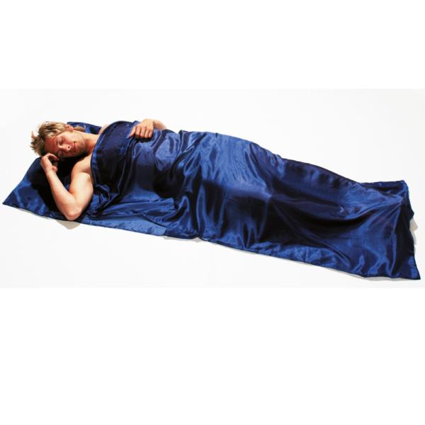 Mivall Seidenschlafsack Blau