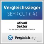 Mivall Sektor- DeckeschlafsackTestsieger (1,4)
